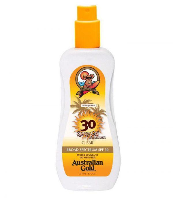 AUSTRALIAN GOLD SPF 30 CLEAR SPRAY GEL SUNSCREEN 1