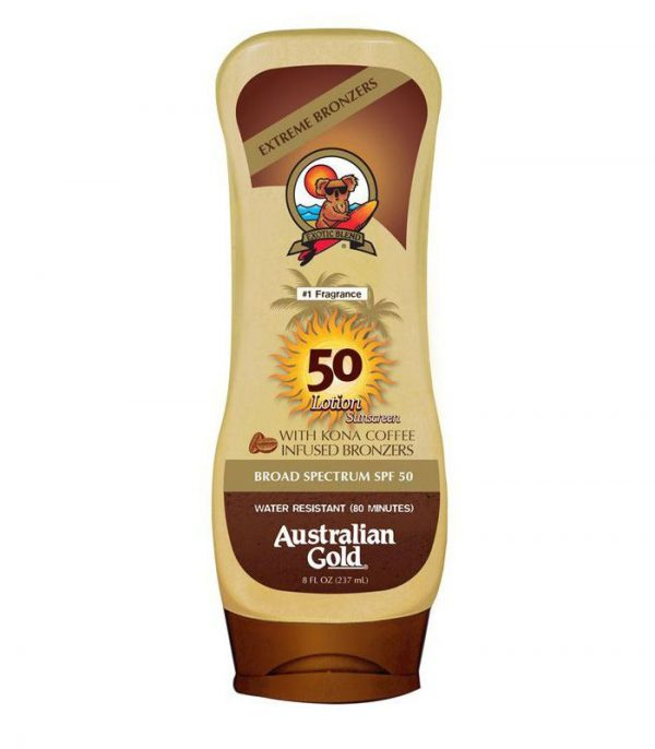 AUSTRALIAN GOLD SPF 50 LOTION SUNSCREEN WITH INSTANT BRONZER 1