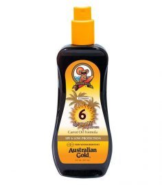 AUSTRALIAN GOLD SPF 6 SPRAY OIL SUNSCREEN CARROT OIL FORMULA