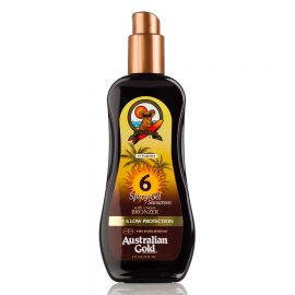 AUSTRALIAN GOLD SPF 6 SPRAY GEL SUNSCREEN WITH INSTANT BRONZER